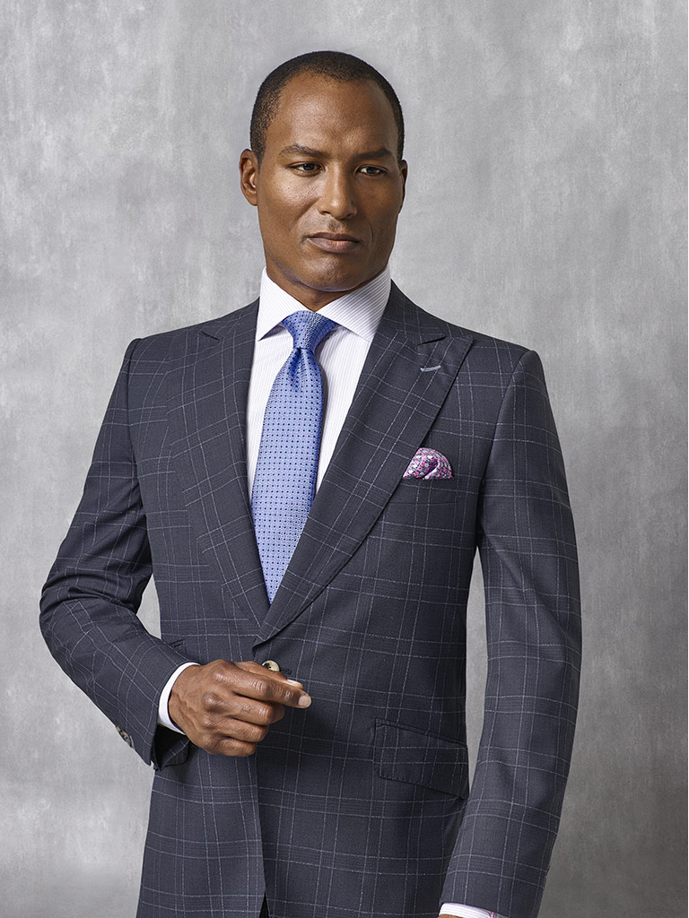 Navy Check Suit - Oxxford Collection