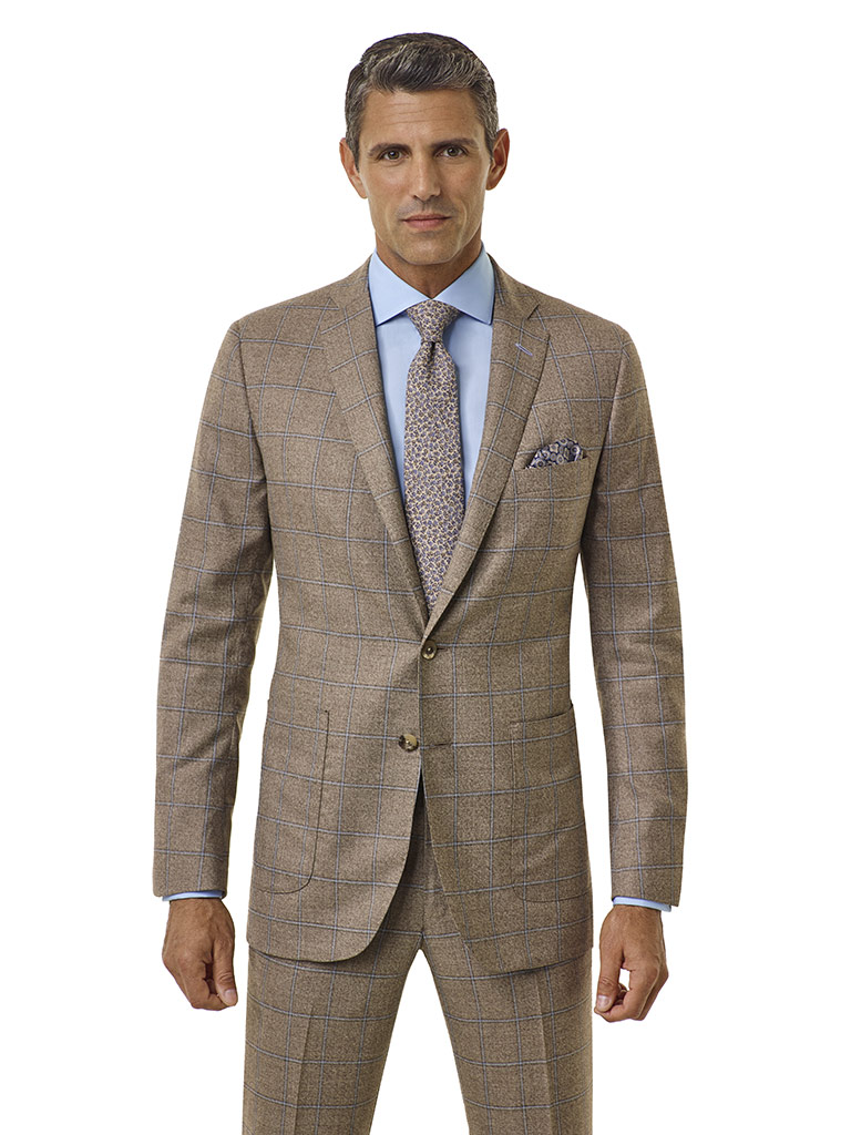 Taupe Windowpane - Royal Classic Collection
