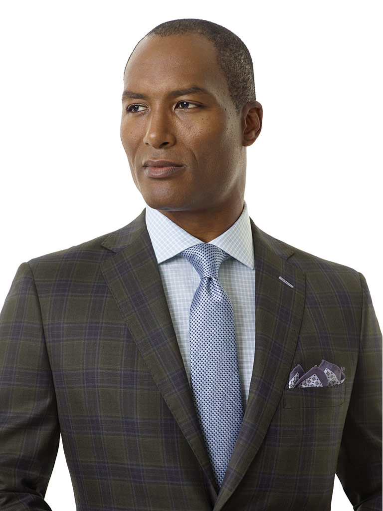 Forest Green Plaid Sport Coat - Royal Classic Collection