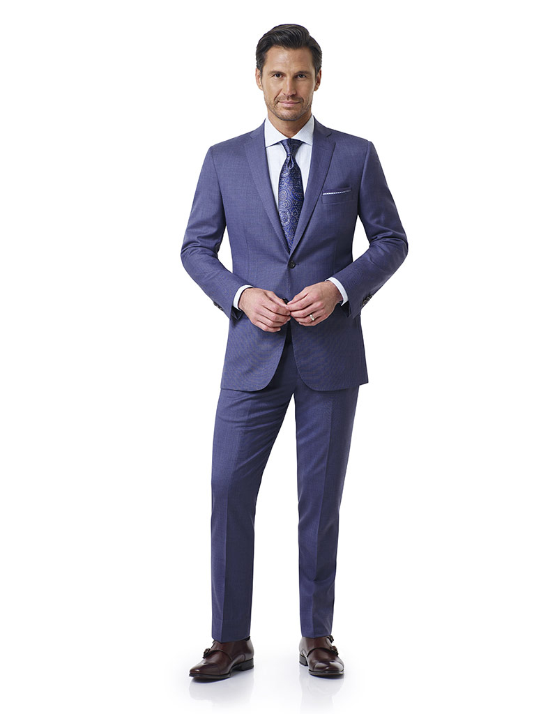 Airforce Blue Sharkskin Holland and Sherry Royal Mile Suit