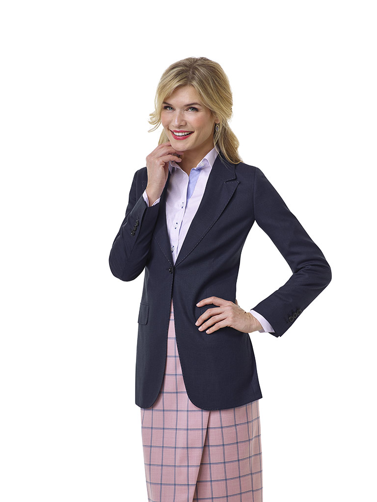 Blue Tic Weave Jacket - Tom James Women Collection