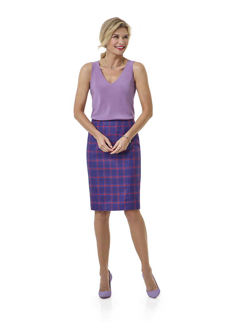 Blue Plaid Skirt - Tom James Women Collection