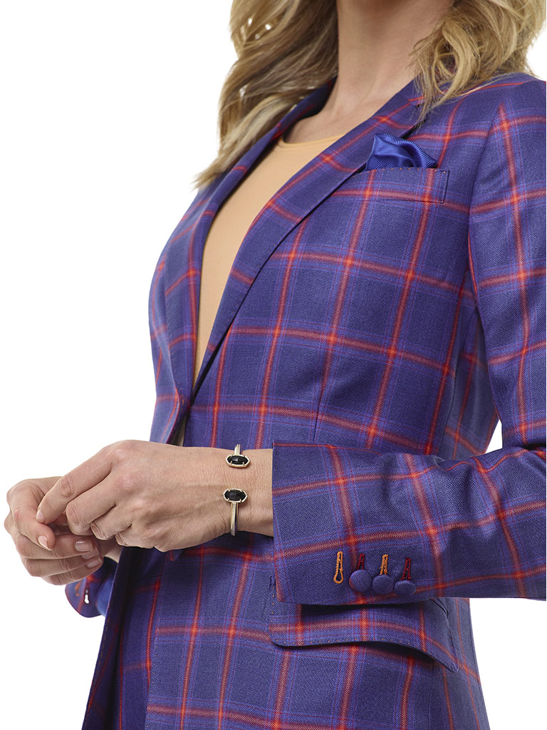 Blue Plaid Suit - Tom James Women Collection