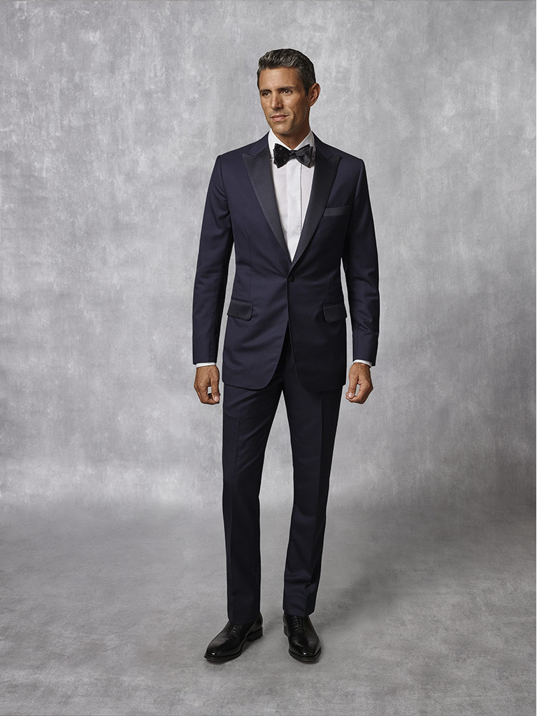Tom James Men's Custom                                                                                                                                                                                                                                    , Navy Plain Tuxedo - Oxxford Collection