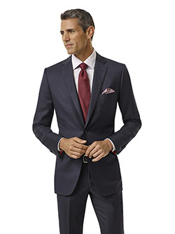 Custom Navy Plain Suit - Executive Collection