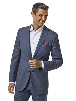 Custom Blue Sharkskin Suit - Executive Collection