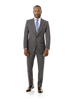 Executive Collection                                                                                                                                                                                                                                      , Gray Windowpane Suit - Executive Collection