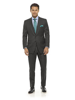 Executive Collection                                                                                                                                                                                                                                      , Dark Gray Solid Suit - Executive Collection