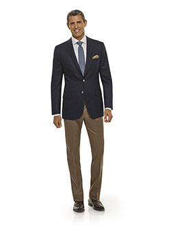 Executive Collection                                                                                                                                                                                                                                      , Navy Diamond Weave Blazer - Executive Collection