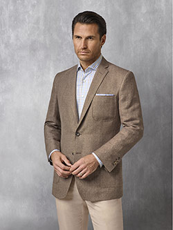 Custom Coffee Solid Blazer - Oxxford Collection