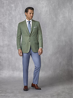 Oxxford Collection                                                                                                                                                                                                                                        , Sage Plain Blazer - Oxxford Collection