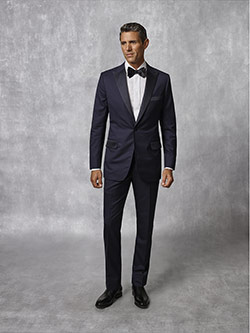 Oxxford Collection                                                                                                                                                                                                                                        , Navy Plain Tuxedo - Oxxford Collection