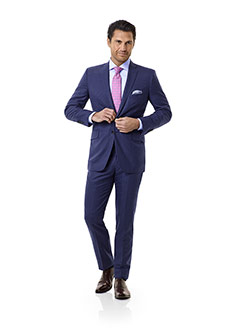 Royal Classic Collection                                                                                                                                                                                                                                  , Blue Grid Check Suit - Royal Classic Collection