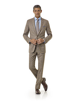 Royal Classic Collection                                                                                                                                                                                                                                  , Taupe Windowpane Suit - Royal Classic Collection