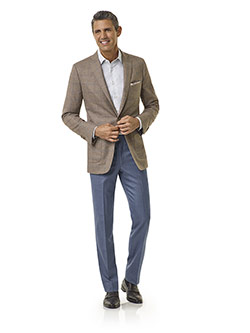Royal Classic Collection                                                                                                                                                                                                                                  , Taupe Windowpane Jacket - Royal Classic Collection
