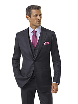 Custom Navy Solid Holland and Sherry Royal Mile Suit