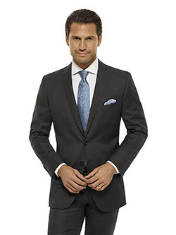 Custom Charcoal Solid Holland and Sherry Royal Mile Suit