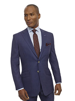Custom Airforce Blue Birdseye Holland and Sherry Royal Mile Suit