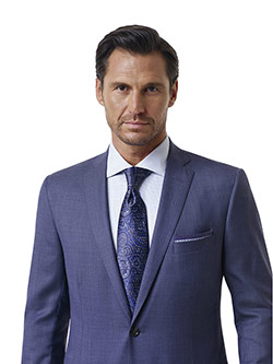 Custom Airforce Blue Sharkskin Holland and Sherry Royal Mile Suit