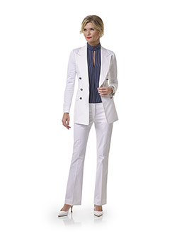 Custom White Plain Blazer - Tom James Women Collection