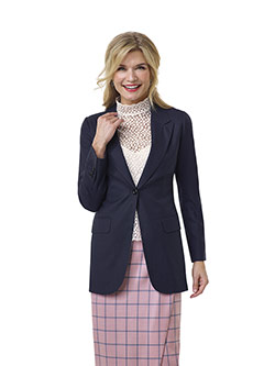 Custom Blue Tic Weave Jacket - Tom James Women Collection