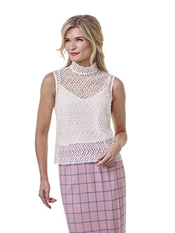 Tom James Women Custom                                                                                                                                                                                                                                    , Blush Windowpane Skirt - Tom James Women Collection
