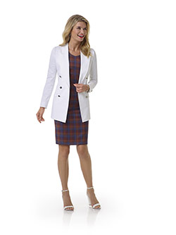 Women's Custom Clothing                                                                                                                                                                                                                                   , White Plain Blazer - Tom James Women Collection