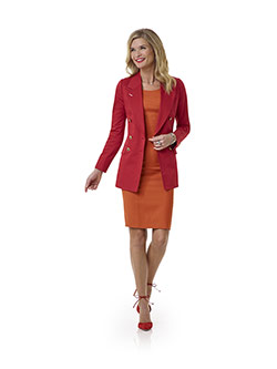 Women's Custom Clothing                                                                                                                                                                                                                                   , Orange Dress - Tom James Women Collection