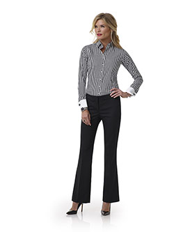 Custom Black Plain Pant - Tom James Women Collection