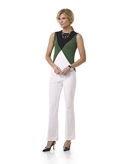 Custom White Plain Pant - Tom James Women Collection