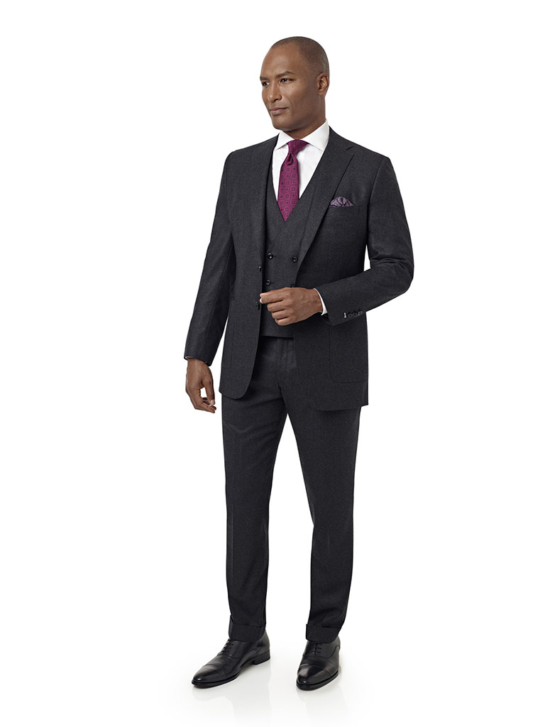 Dark Gray Flannel Suit