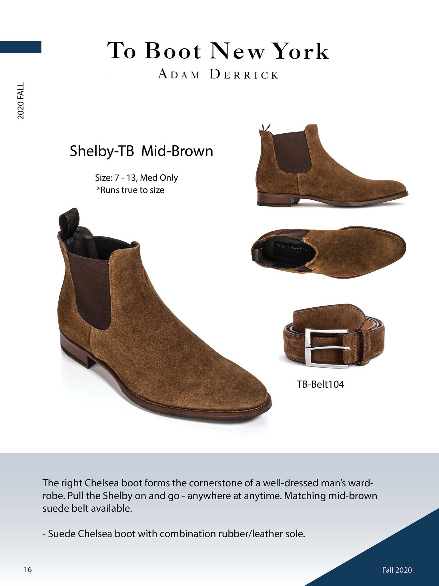 Shelby in Mid-Brown by To Boot New York