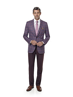 Men's Custom Clothing                                                                                                                                                                                                                                     , Mauve Plaid Sport Coat