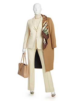 Women's Custom Clothing                                                                                                                                                                                                                                   , Solid Camel Suit