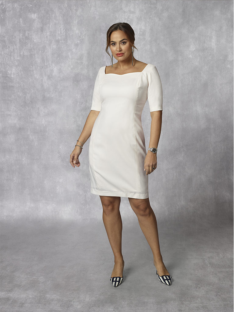 2020 Lookbook                                                                                                                                                                                                                                             , Holland & Sherry -Royal Mile Plains - Ivory Plain Dress