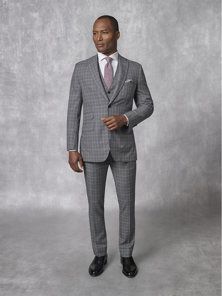 2020 Lookbook                                                                                                                                                                                                                                             , Super 170's Worsted Wool - Grey Check