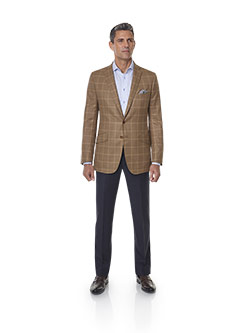 Custom Super 120's Wool - Ginger Windowpane Men's Sport Coat