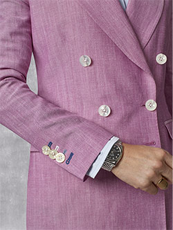 Custom Holland & Sherry - South Pacific Linen Blend -Fuchsia Plain Suit