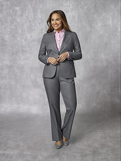 Women's Custom Clothing                                                                                                                                                                                                                                   , Holland & Sherry - Dragonly Gostwyck - Grey Stripe Suit
