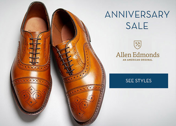 Allen Edmonds Anniversary Sale Event