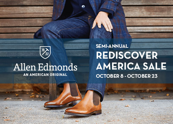 Allen Edmonds Semi-Annual Shoe & Belt Sale