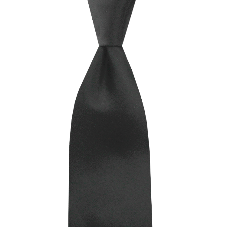 SATIN NECKTIE   BLACK