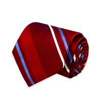 RED WOVEN STRIPE