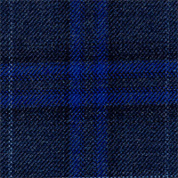 Char Navy 100% Wool Custom Suit Fabric