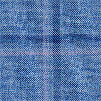 Blue 70% Wool 20% Silk 10% Linen Custom Suit Fabric