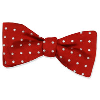 RED WOVEN DOT