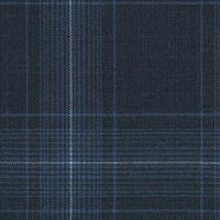 Navy 100% Super 100'S Wool Worsted Custom Suit Fabric