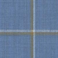 Light Blue 100% Super 100'S Wool Worsted Custom Suit Fabric