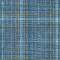 Blue 100% Super 100'S Wool Worsted Custom Suit Fabric