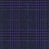 Char Navy 100% Super 140'S Wool Custom Suit Fabric